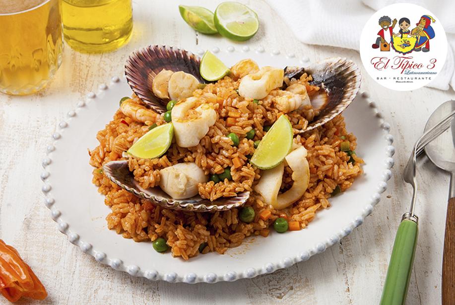 arroz calamar conchas